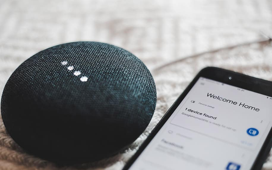 Voice search with Google Home speaker