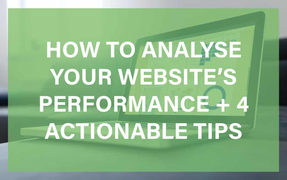 How to analyse your website's performance featured