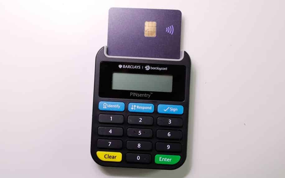 bank card payment device