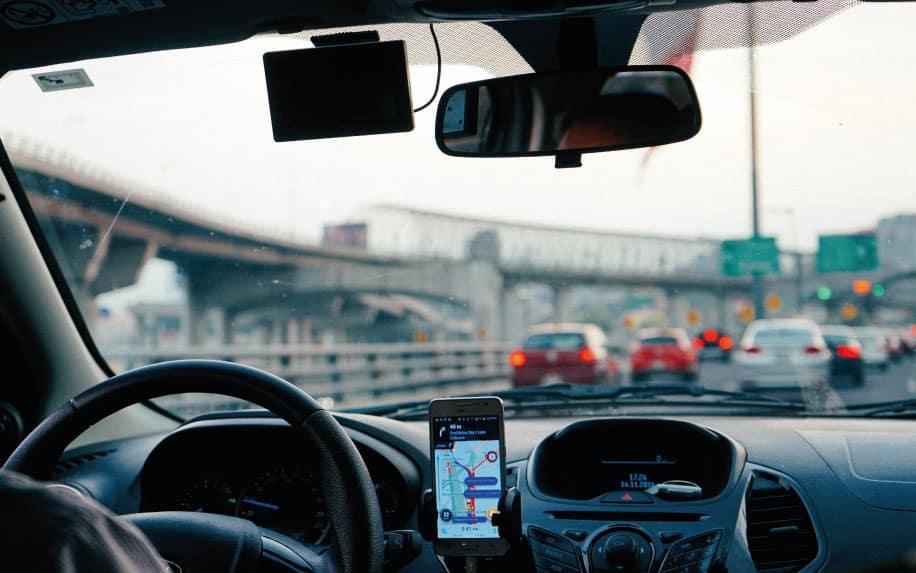 Uber smartphone app example