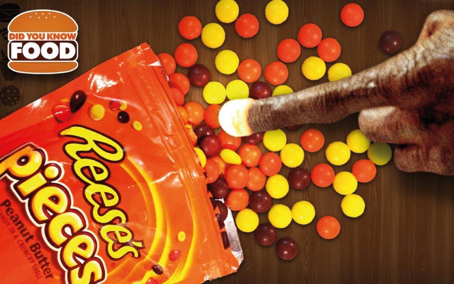 Reeses pieces in ET