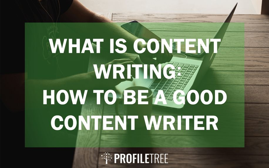 man writing content online