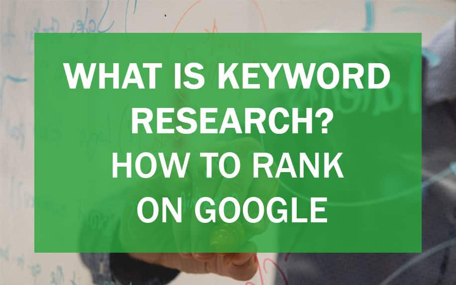 Ranking high on Google with keyword research