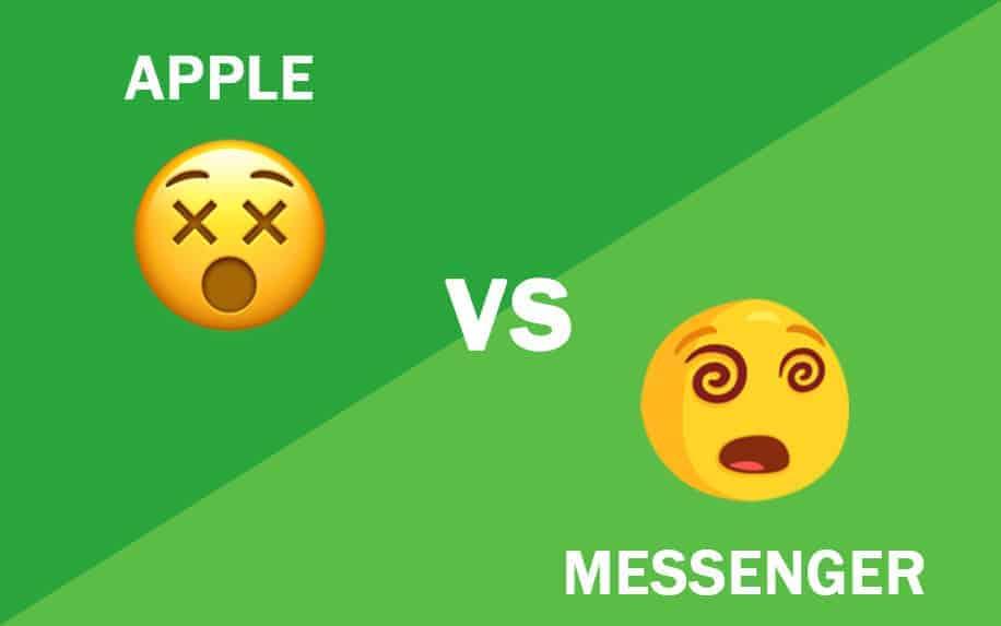 Apple Facebook emoji domain graphic