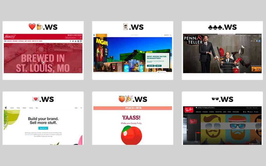 Emoji domains example image