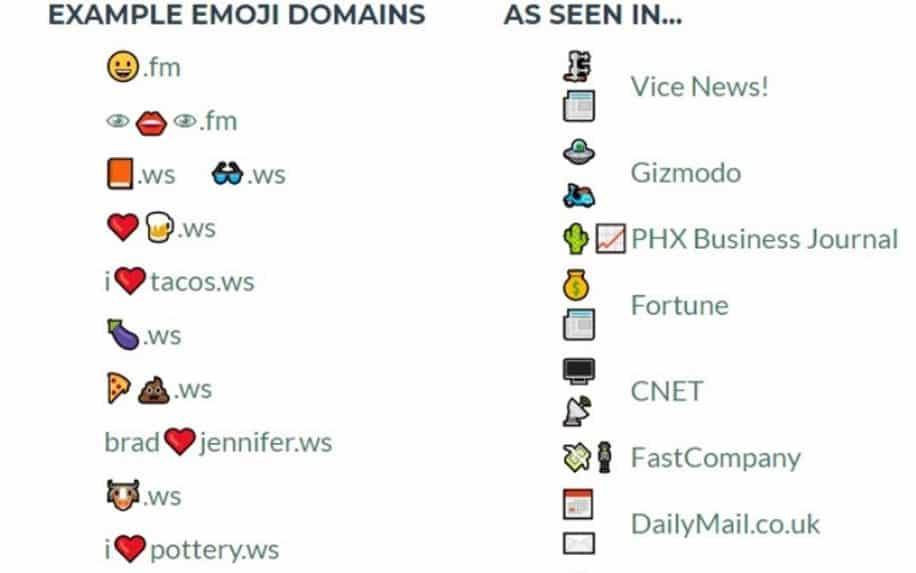 emoji domains header image