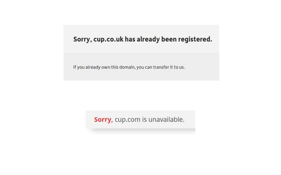 Domain name error
