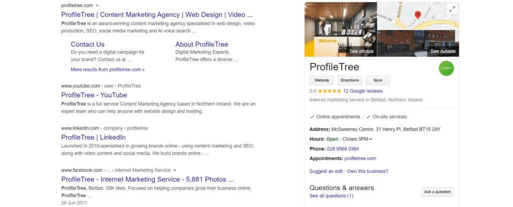 ProfileTree's Google My Business