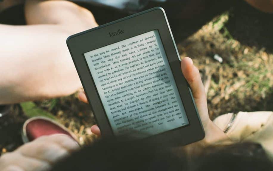 kindle showing ebook
