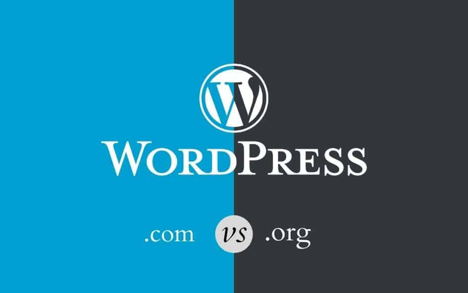 WordPress .com vs .org featured image