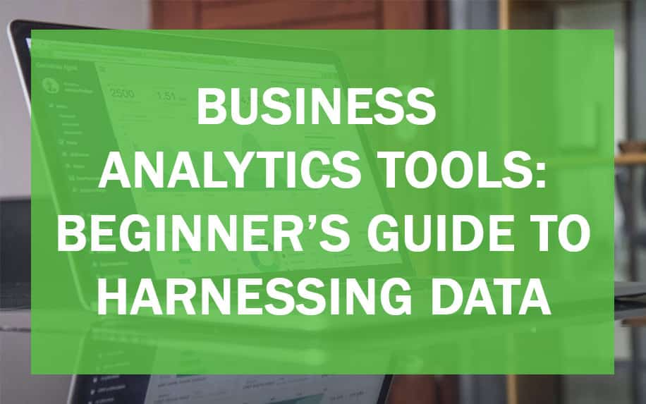 Business analytics tools header