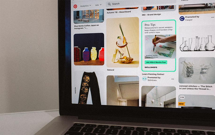 Pinterest board example image of computer