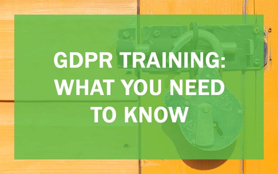 GDPR Training header image