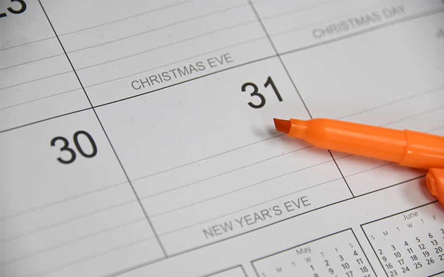 Online marketing course calendar