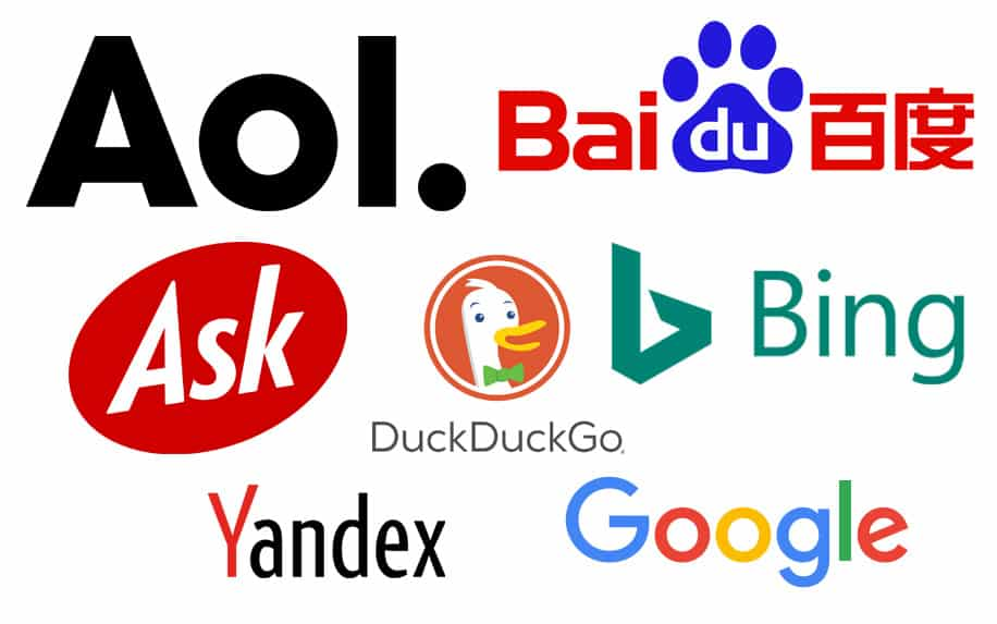 Top search engines graphic