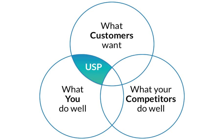 Strategic marketing plan USP infographic