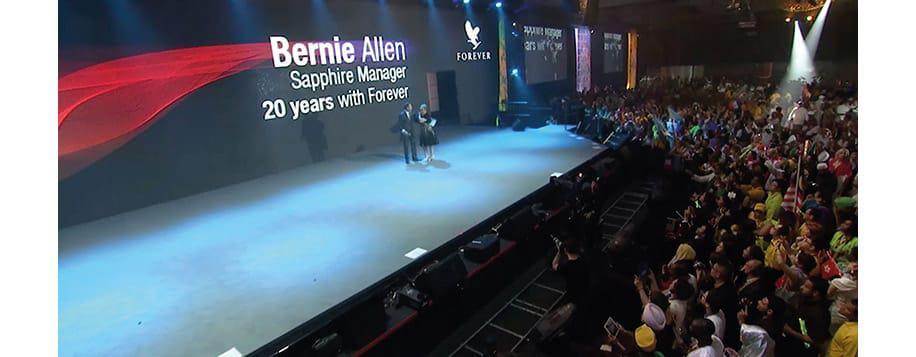 Bernie Allen onstage