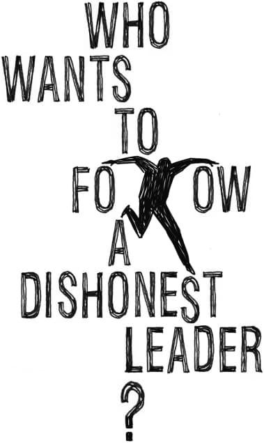 DIshonesty is bad leadership