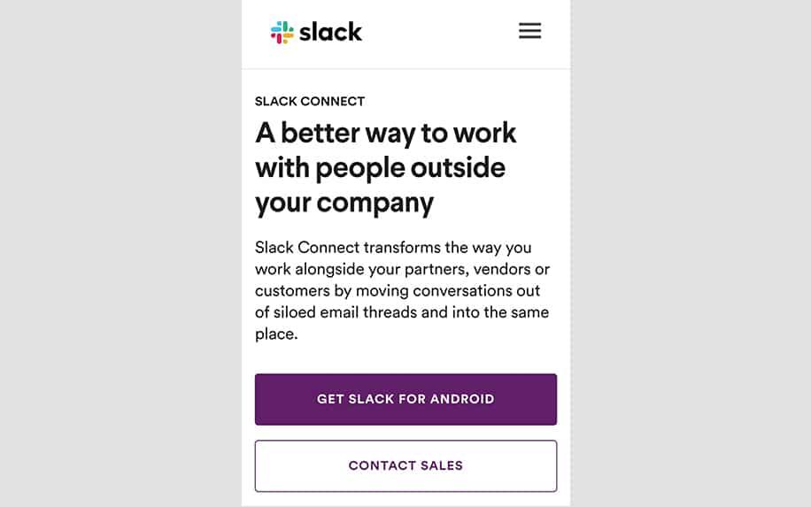 Slack mobile screenshot