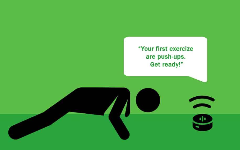 exercising with Alexa graphic