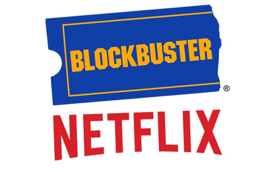Blockbuster and Netflix logos