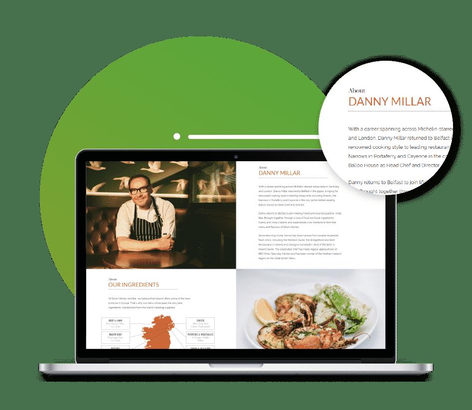 Web copywriting agency example