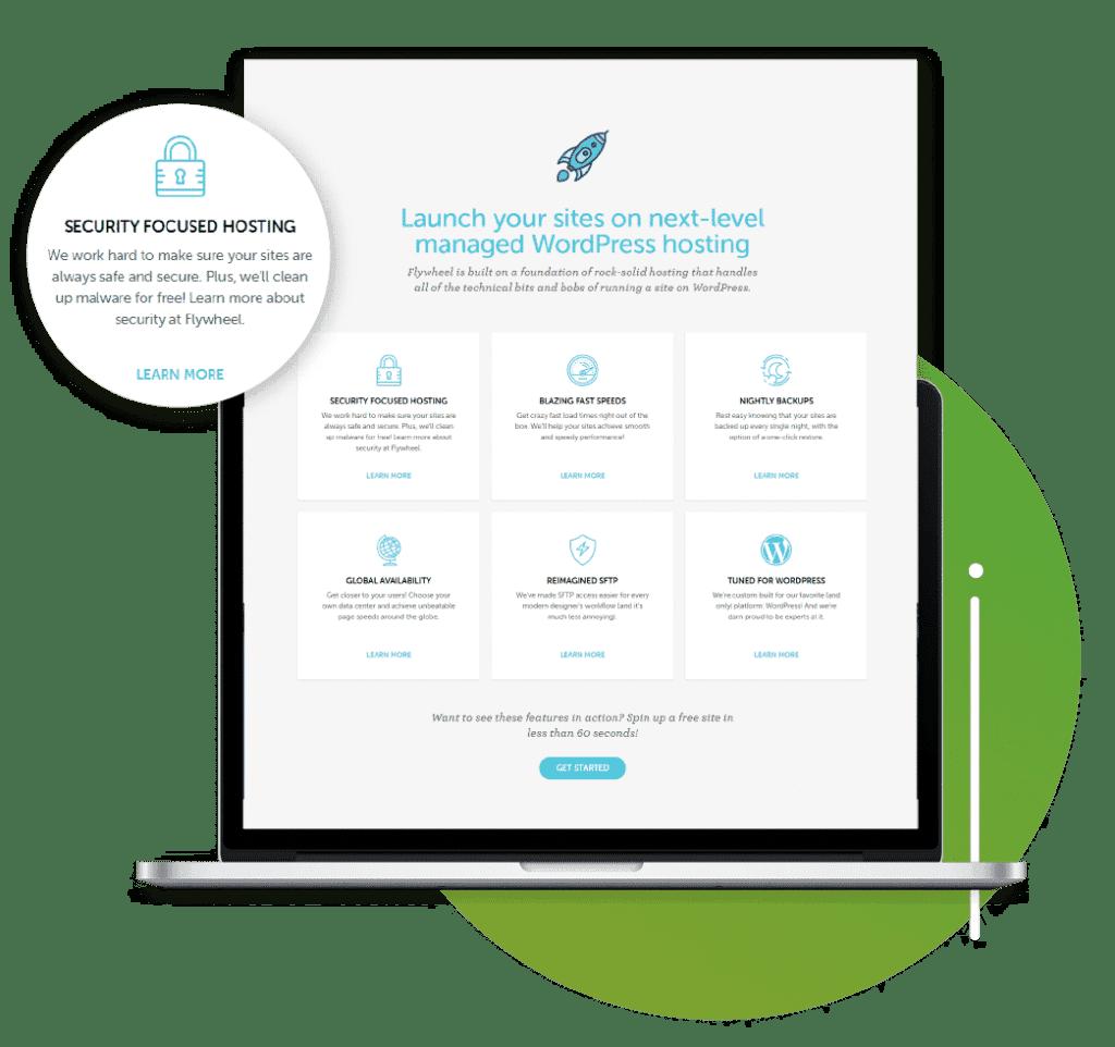 Website management services graphic