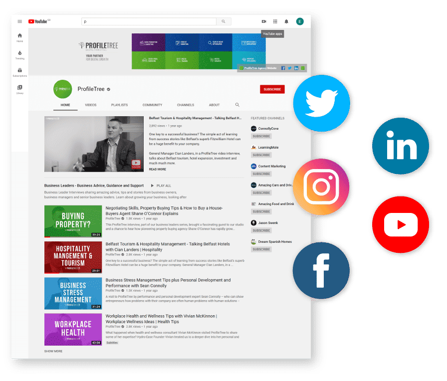 digital training example social media