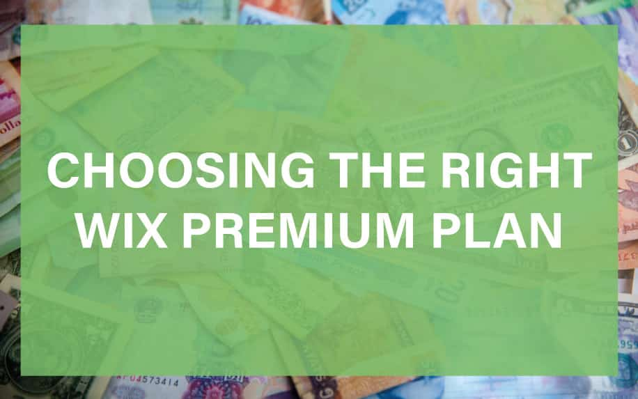 WIX premium plan featured image
