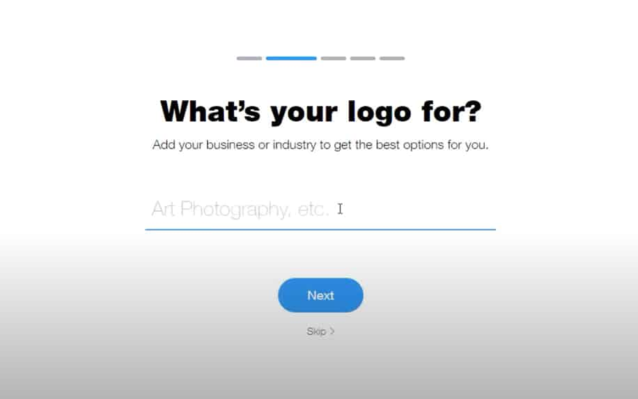 WIX logo maker choose your industry