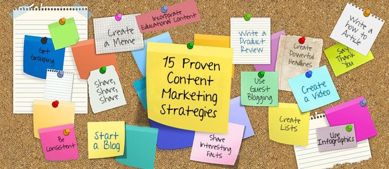 15 Proven Content Marketing Strategies