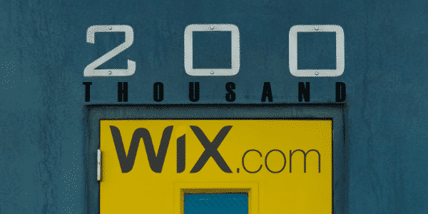 Wix allows up to 200 thousand contacts