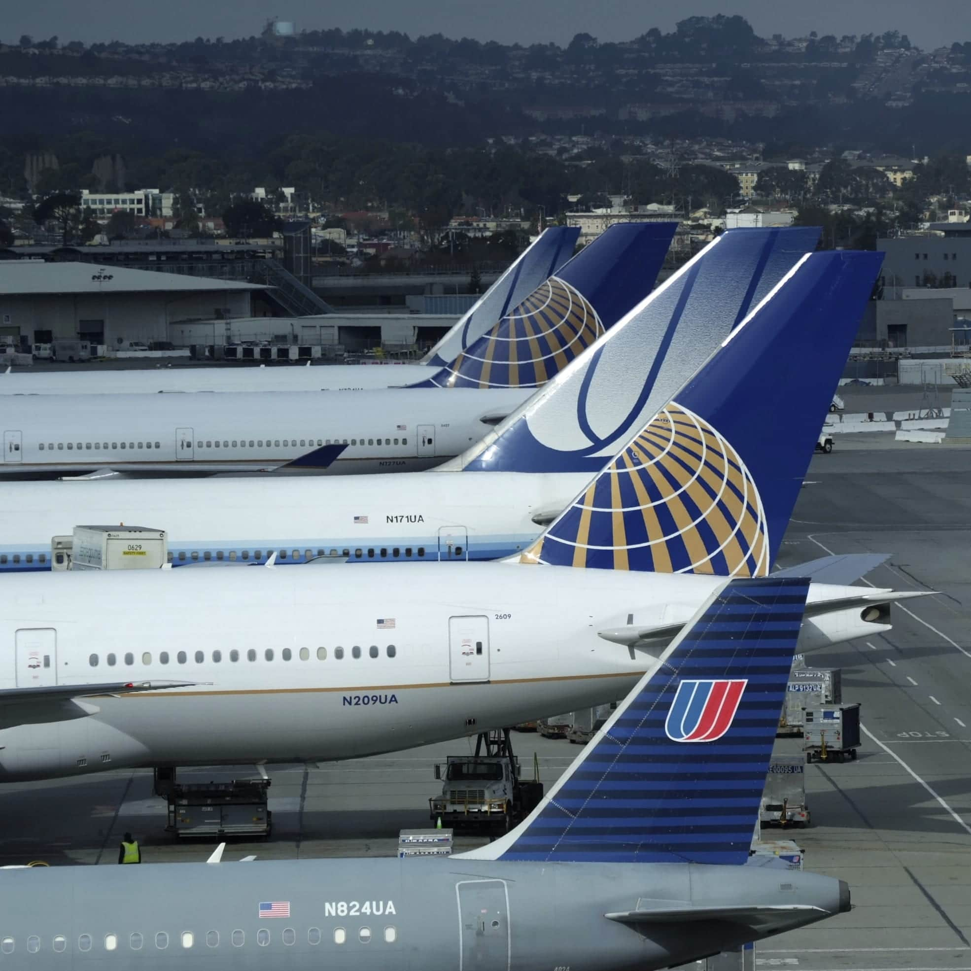 United Airlines Logo. Mix of Continental airlines and united airlines. Why rebrand reason