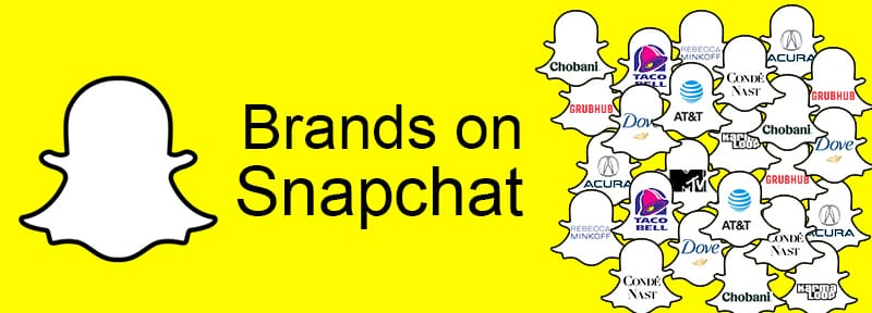 Brands on Snapchat - snapchat advertising - snapchat