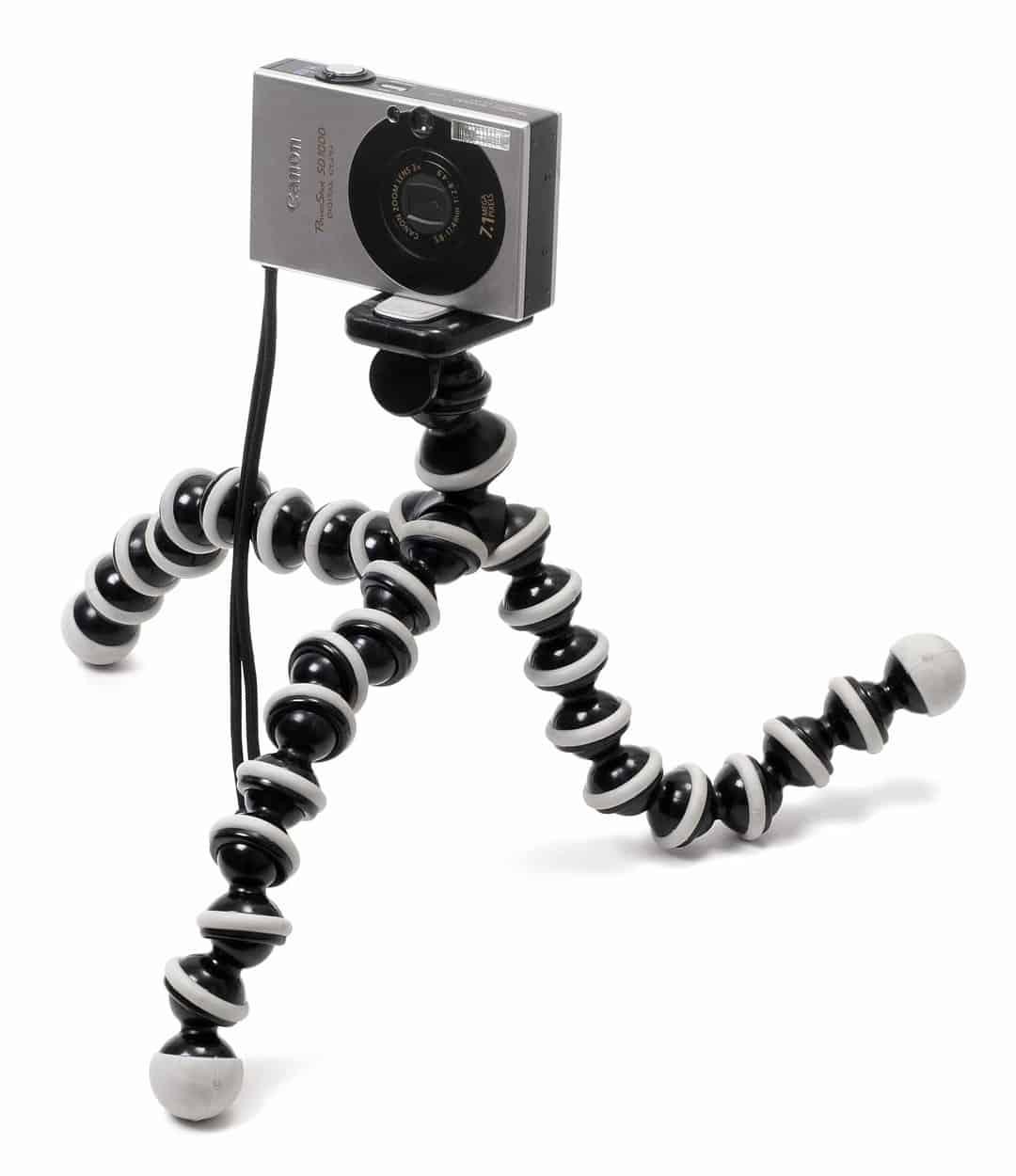 A GorillaPod tripod with a camera.