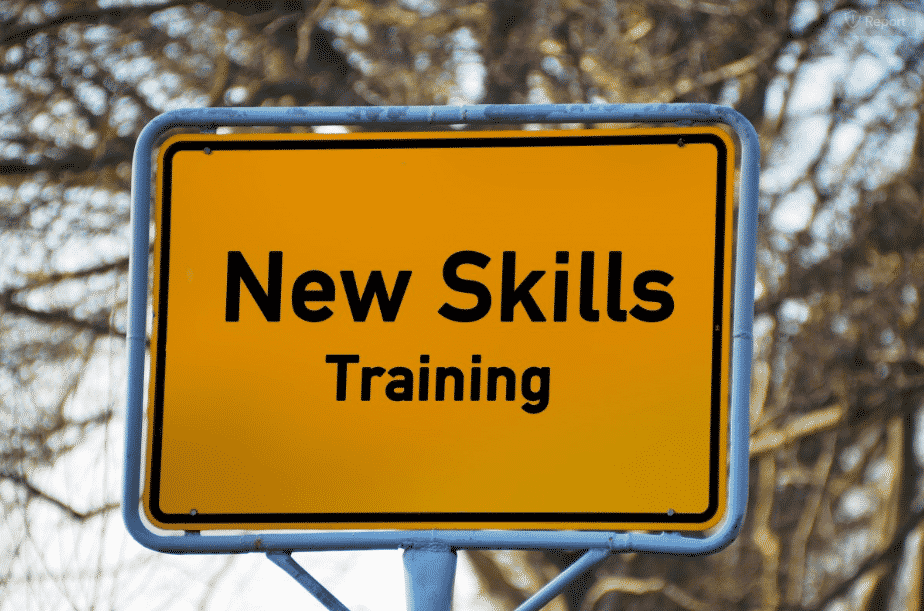 New Skills sign image for Personal Development in Your Workplace blog