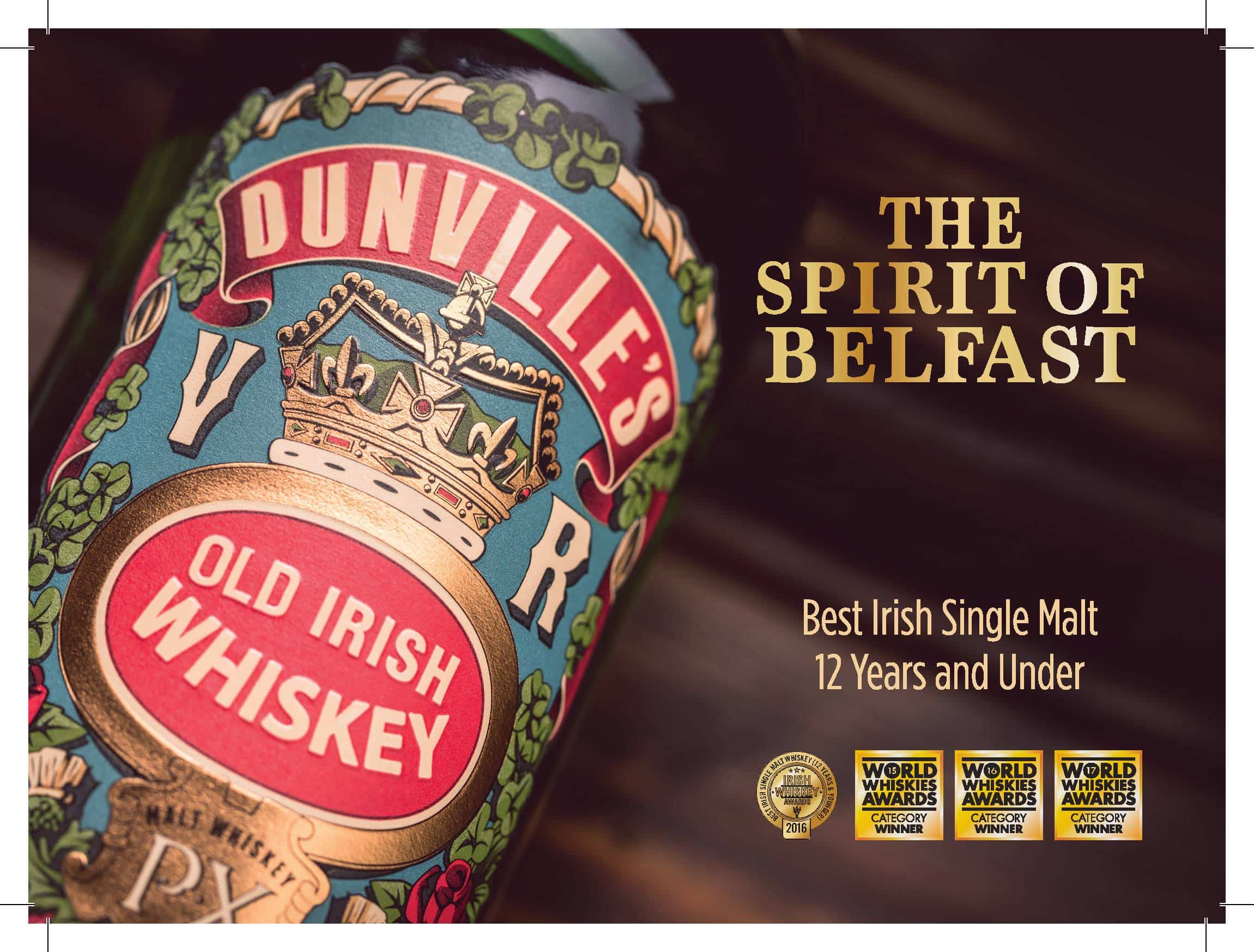 Dunville's Irish Whiskey image for company branding blog