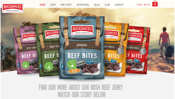 RuckSnacks site image for Web Design Derry page