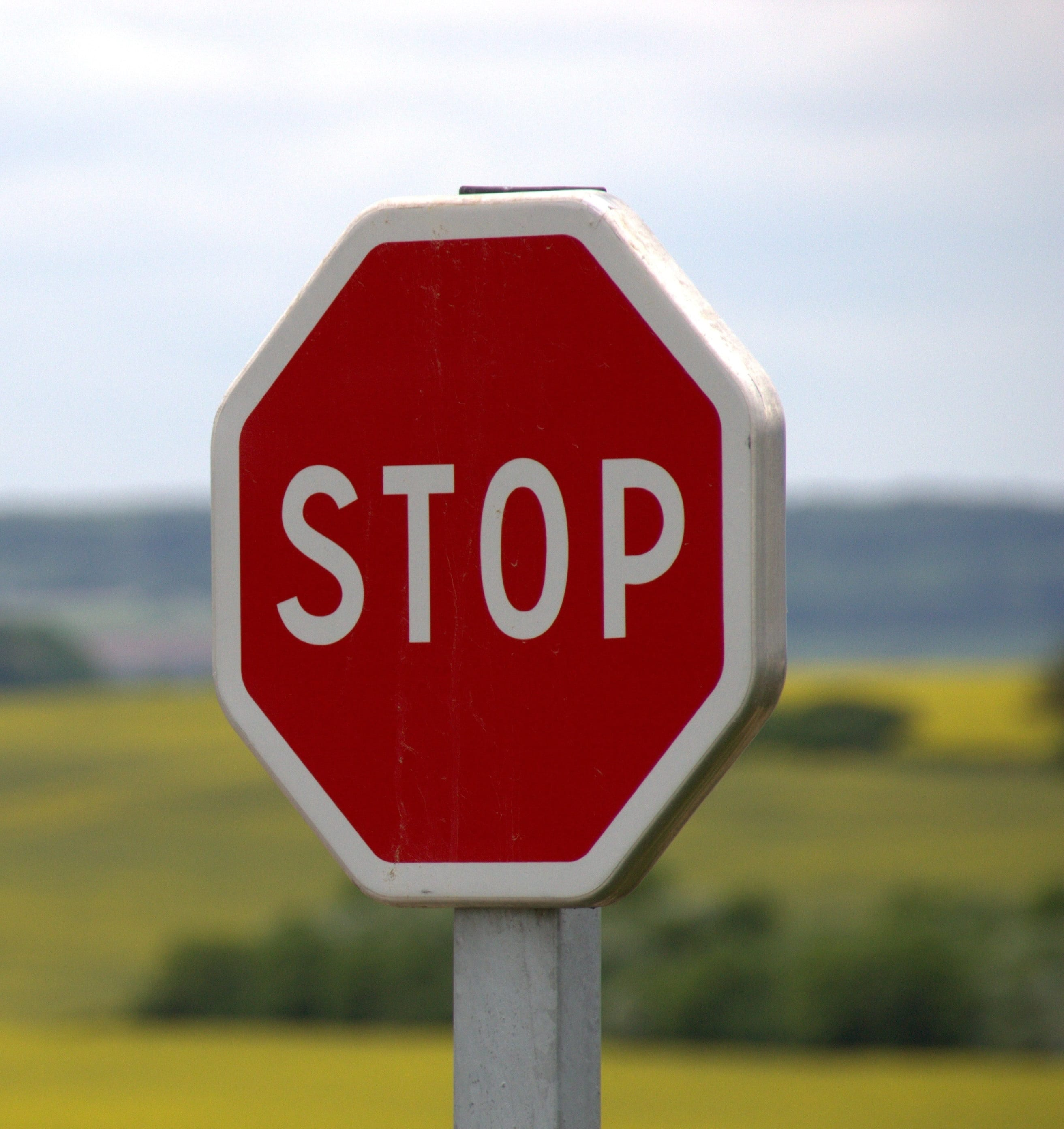 Stop sign for hiring a marketer blog