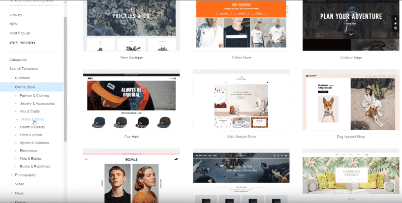 Choosing the perfect wix theme for your site
