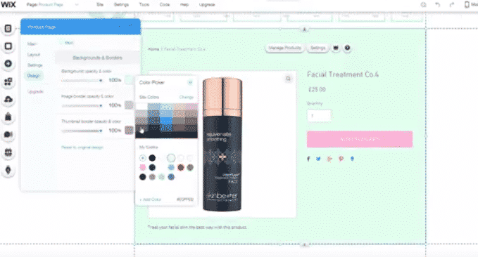 How to edit the items page on WIX