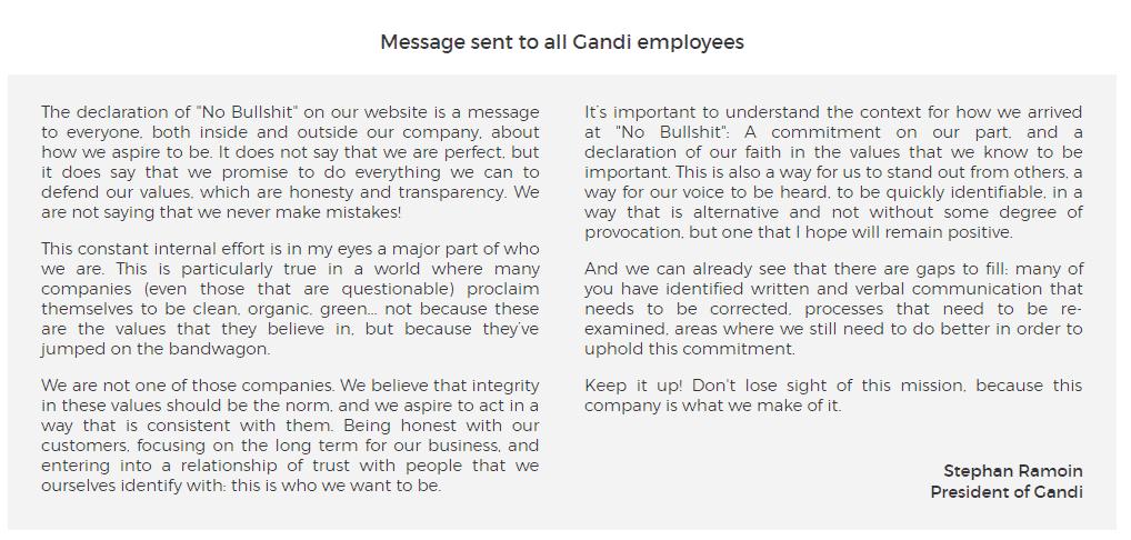 Gandi Employee's message