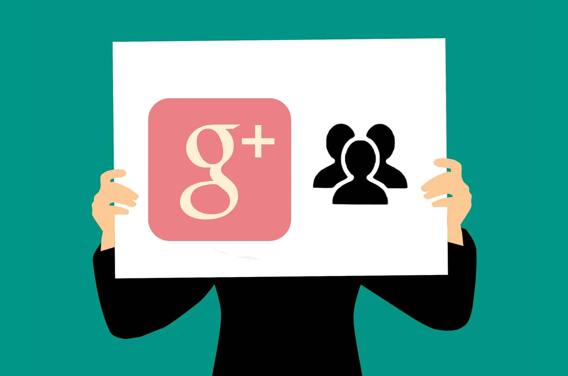 Google Plus Logo and Contacts for What Is Google Plus Article