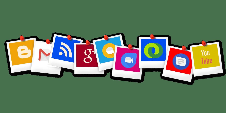 Multiple social media icons