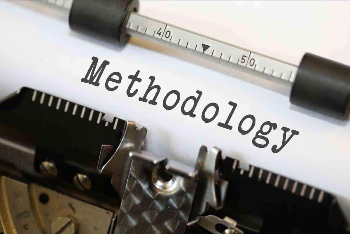 Methodology typed on typewriter