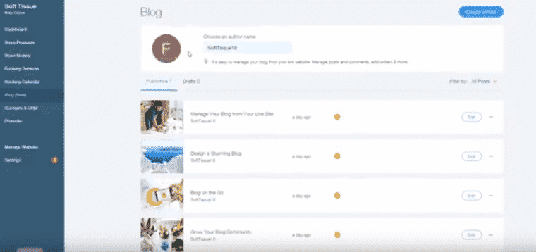 Posts on WIX example
