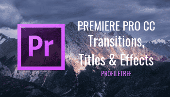 Premiere Pro CC Transitions, Titles and Effects