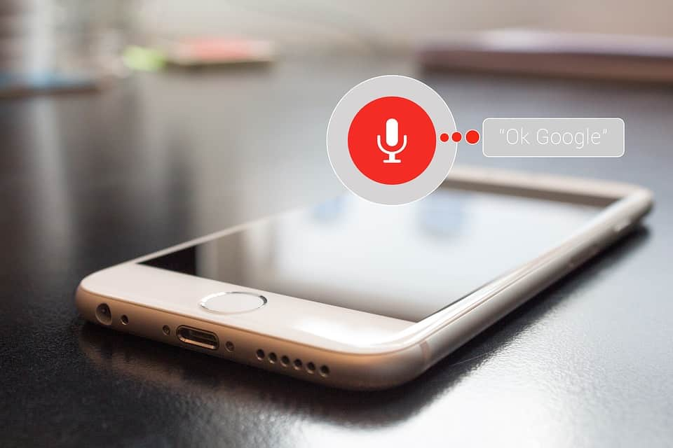 voice searching with Google's app