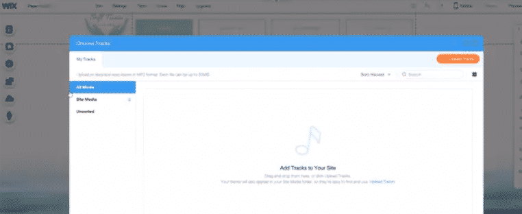 Add music to your WIX site