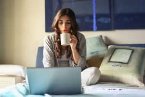 work from home jobs woman